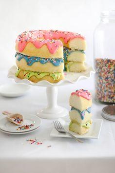 (11) Triple Stack Donut Cake