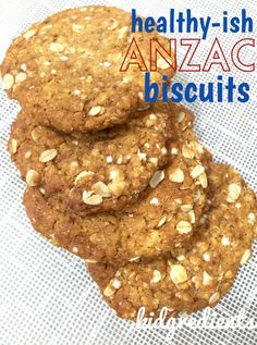 Delicious healthy-ish ANZAC biscuits with added quinoa. Healthier than the average ANZAC and using rice malt syrup. Great as afternoon tea.