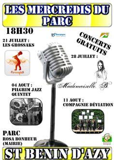 Les mercredis du parc à Saint Benin d'Azy : concerts gratuits.