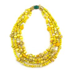 Sunny for Sure necklace, yellow, Elva Fields, $198.00