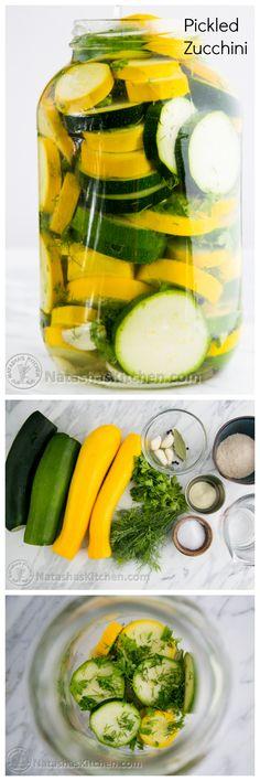 Quick pickled zucchi
