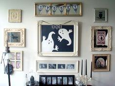 Halloween wall arrangement by Kim of Starshine Chic blog 10/07/10.