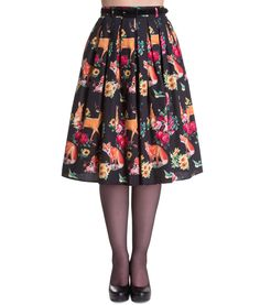 Hell Bunny Hermeline Black 50s Full Circle Skirt 8-22 Plus