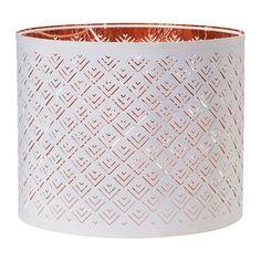 IKEA - НИМО, Абажур, Создайте напольный или подвесной светильник, не похожий на другие, дополнив понравившийся абажур основанием или шнуром-подвесом на свое усмотрение.</t><t>Создает декоративное освещение в комнате; свет проходит через перфорированный абажур.