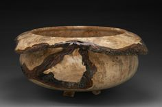 Spalted Silver Maple Burl Bowl