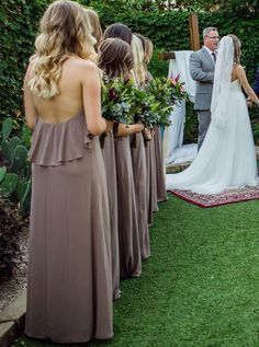 Halter Chiffon Beautiful Charming Long Bridesmaid Dresses with Ruffles , Backless Pageant Dresses, Evening Party Dresses, Backless Bridesmaid Dress, Cheap Bridesmaid Dresses Online, Grey Bridesmaid Dresses, Wedding Bridesmaids, Wedding Dresses, Chiffon Ruffle, Chiffon Tops, Ruffles, Ruffle Top
