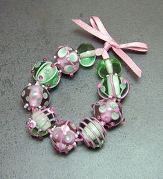 Candy Apple by Beads By Laura, via Flickr