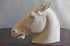 Horse head carved by M.J.Y. | artistsconk | Flickr