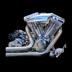 No 13: HARLEY DAVIDSON MOTORCYCLE PR128 ENGINE by Gordon Calder, via Flickr