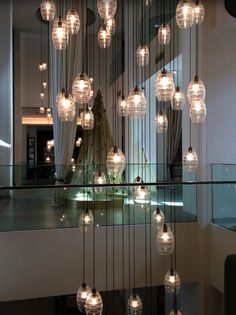 LED filament light bulbs in Vida Downtown Hotel, Dubai. Get your lights from Bright Goods.