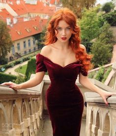 Red Velvet Off-The-Shoulder Long Dress