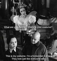 Just Wednesday keeping you on your toes. You have no idea what that Duane Reade cashier does in his spare time. | 18 Times Wednesday Addams Was The Hero Young Girls Needed