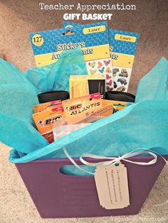 Teacher Appreciation Gift Idea With Fun Poem! #BacktoSchool #DIY #DollarStore #Easy #Sponsored