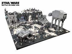 You guys have got to check out this incredible Star Wars LEGO diorama that was created by a fan named Markus. The LEGO build features the Battle of Rhen Var from Star Wars: Battlefront. He could have done anything from the film like the Battle of Hoth or Endor, but he choose the Battle of Rhen Var,