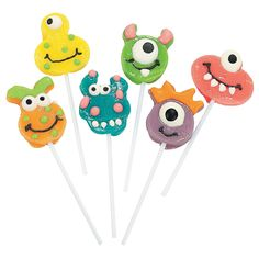 These are so frigging cute!  Goofy Monster Head Suckers - OrientalTrading.com