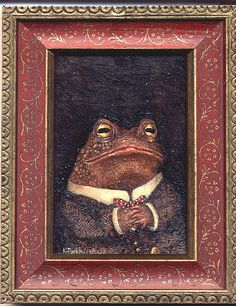 Oil painting of Mr Toad. on gessoed muslin on board. Frog And Toad, Mr Toad, Frog Art, Dibujos Cute, Cute Frogs, Aesthetic Art, Cute Art, Art Inspo, Art Reference
