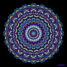 mandalas art | ... Mandala Digital Art - Unexpected Multicolored Mandala Fine Art Print