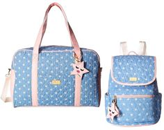 653bb36914f7 Luv Betsey Johnson Weekender Duffel Travel Backpack Baby Shower Diaper Bag  Set
