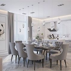 Interior design inspirations for your luxury dining room. Check more at luxxu.net