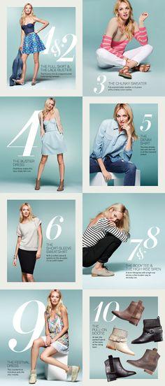 Top 10 Spring Essentials: Dresses, Denim & Sweaters
