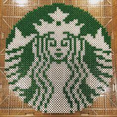 Starbucks logo perler beads by  tylerhighhroller