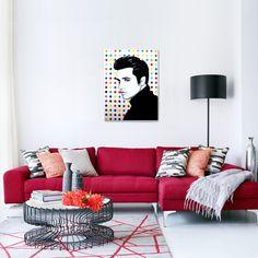 Elvis Presley pop painting 82x106cm