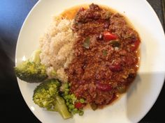 Clean homemade chilli with quinoa