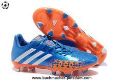 2014 TRX FG Adidas Predator LZ (Blue/White/Orange) Soccer Cleats