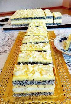 Vanilkový krém plnený makom - je to super Cookie Desserts, Gluten Free Desserts, No Bake Desserts, Cookie Recipes, Hungarian Desserts, Hungarian Recipes, Cake Recept, Waffle Cake, Torte Cake