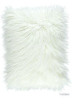 Poduszka dekoracyjna LUMA biały/Faux fur pillow LUMA white