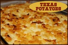 Texas Potatoes  http://www.momspantrykitchen.com/texas-potatoes.html