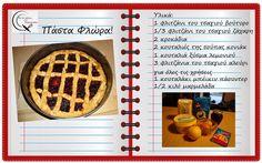 Θα σε κάνω Μαγείρισσα!: Πάστα Φλώρα Greek Recipes, Greek Meals, Cookie Dough Pie, Greek Sweets, Waffles, Flora, Cookies, Breakfast, Cake