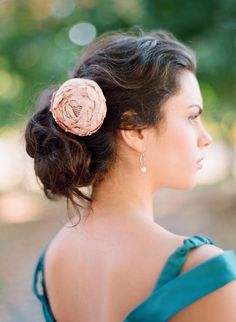 Idea for hair on your wedding day.  Romantic look.