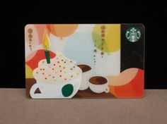 Starbucks Card, the edition birthday card. 2012 and still produced? Birthday Ideas, Birthday Cards, Happy Birthday, Etiquette And Manners, Act Like A Lady, Starbucks Coffee, Paper Cutting, Packaging Design, Branding