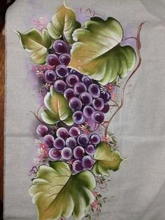 China Painting, Tole Painting, Fabric Painting, Watercolor Paintings, Pinterest Pinturas, African Quilts, Fabric Paint Designs, Fruit Flowers, One Stroke Painting