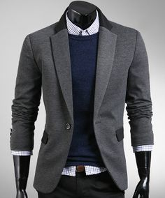 Men's Casual Blazer...Love the Orange with Light color Blazer ...