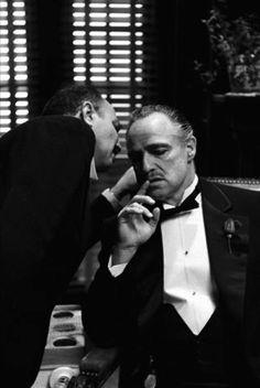 """Marlon Brando as Don Vito Corleone in """"The Godfather"""" Marlon Brando The Godfather, Godfather Movie, The Godfather Poster, Scarface Movie, Don Corleone, Photo Star, Scene Photo, Great Movies, Movie Tv"""