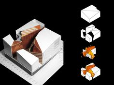 Aurora Arquitectos – House of Arts & Culture Concept Board Architecture, Architecture Design, Kindergarten Design, Minimalist Architecture, Sustainable Design, Cubes, Nyc Projects, Inspiration, House