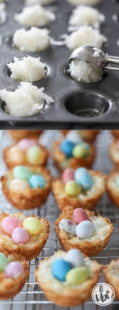 Coconut Macaroon Nests - spring Easter dessert recipes (Baking Desserts Creative)