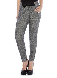 Marled Knit Jogger Pants