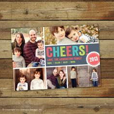 cheers new years card photo collage by saralukecreative on etsy 1800 new year photos