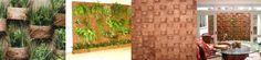 Fibra de Coco Esta técnica é perfeita para espaços pequenos como varandas e apartamentos. Por ser confeccionada por um material natural, parte dela pode ficar aparente, sem prejudicar o visual. Deve-se impermeabilizar a parede que vai receber o painel antes. O painel de fibra de coco pode ser parafusado na estrutura. A empresa Coquim comercializa as peças para todo o Brasil.