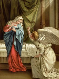 The Annunciation Colour Litho by Orazio Gentileschi Catholic Doctrine, Catholic Art, Catholic Saints, Who Is Jesus, Mary And Jesus, Blessed Mother Mary, Blessed Virgin Mary, Religious Paintings, Religious Art