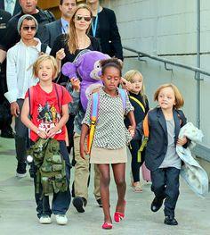 Angelina Jolie, Six Kids Hold Hands Arriving in Australia: Picture - UsMagazine.com