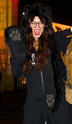 Vanessa Hudgens in our HB3 Black Wolf Spirit Hood.
