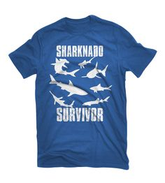 Sharknado fan t-shirts! Check out all the designs at: www.gosteward.com #sharknado #sharknadothshirts #tshirts