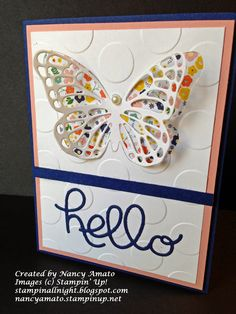 Stampin' All Night   Nancy Amato Butterfly Peek-A-Boo Card