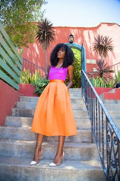 orange & pink #outfit #summerfashion #streetstyle @Style Pantry