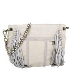 Liebeskind Tasche – Danielle Vintage Suede Fringes Alabasta White – in beige – Umhängetasche für Damen