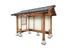 Japanese Koshikake Garden Shelter Yokaze